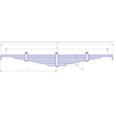 Рессора задняя (ЕВРО) (12 листов) для автомобиля КАМАЗ-