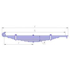 Рессора передняя с витым ухом (12 листов)  для автомобиля КАМАЗ-